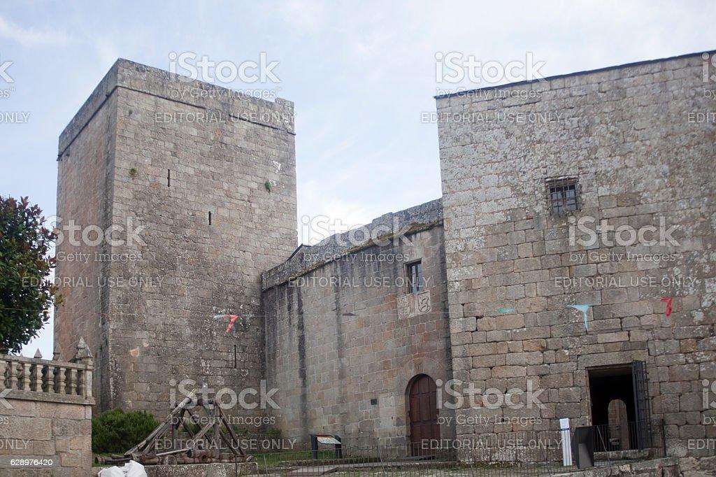 Castro Caldelas tower, Ourense, Galicia, Spain. stock photo