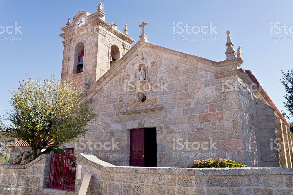 Castro Laboreiro Church stock photo