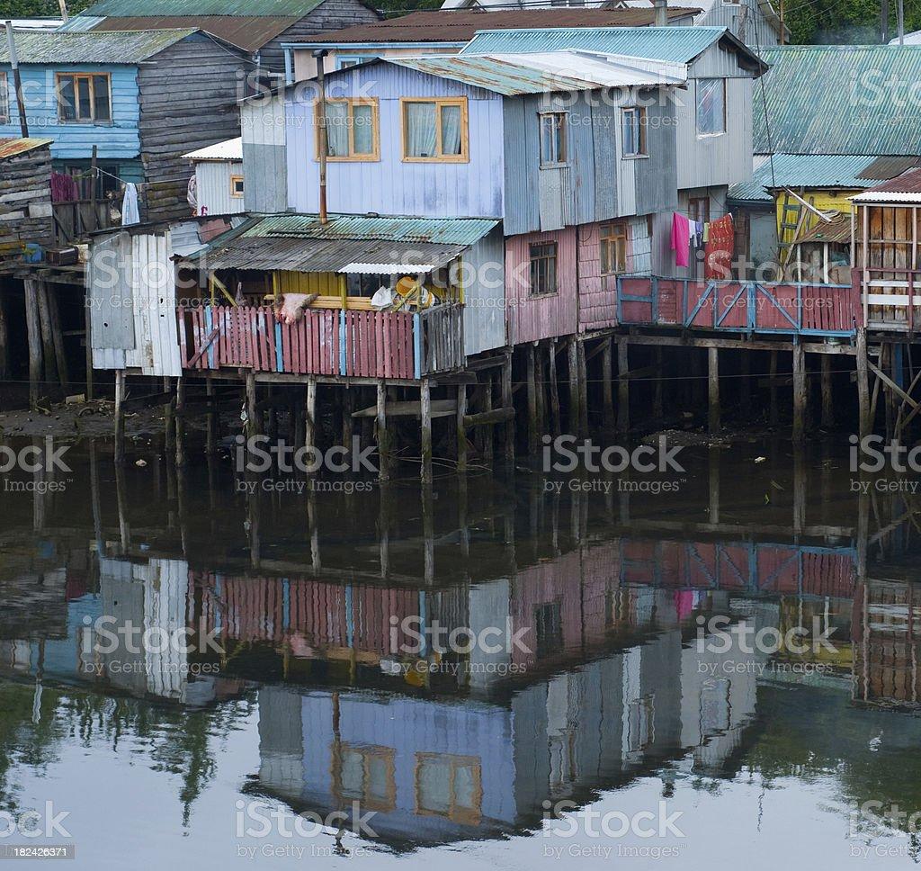Castro (Chiloe Island) stock photo