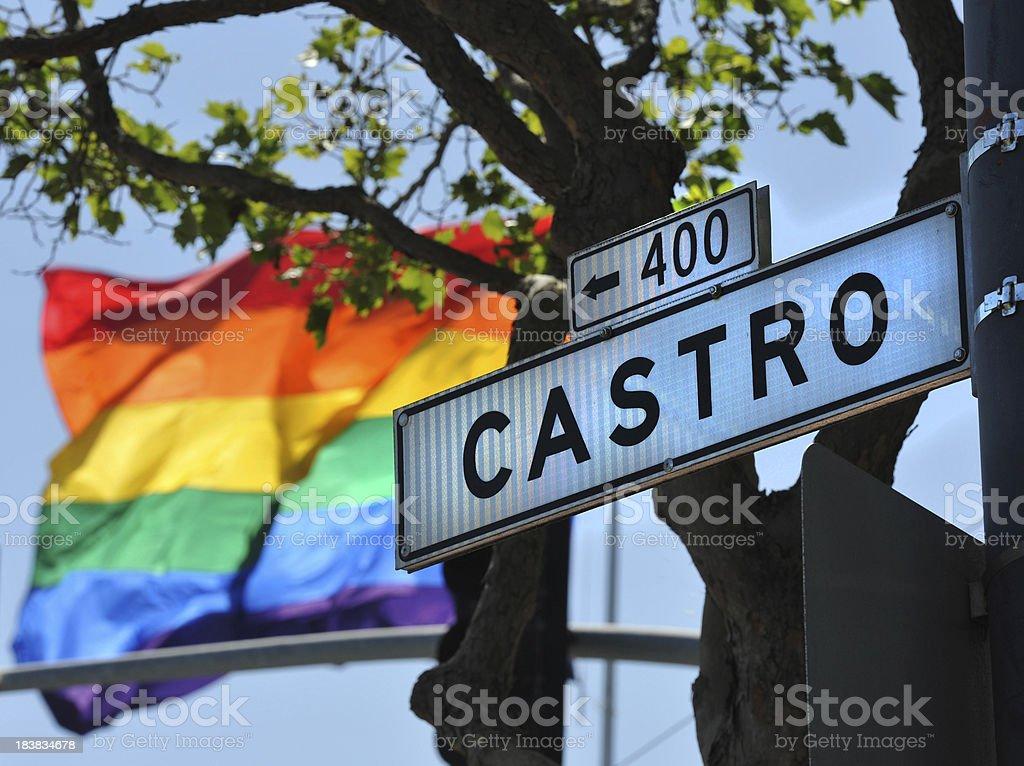 Castro sign stock photo