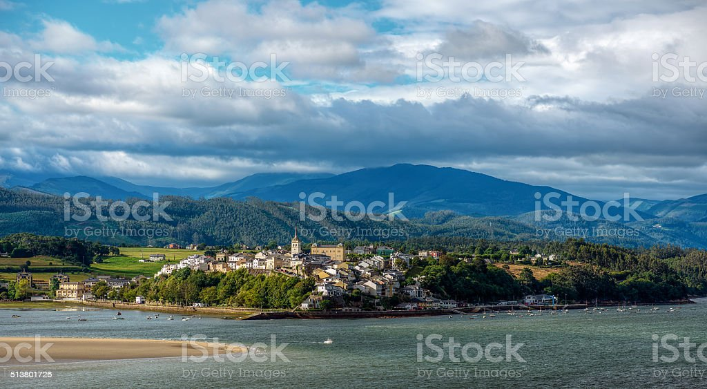 Castropol marine village stock photo