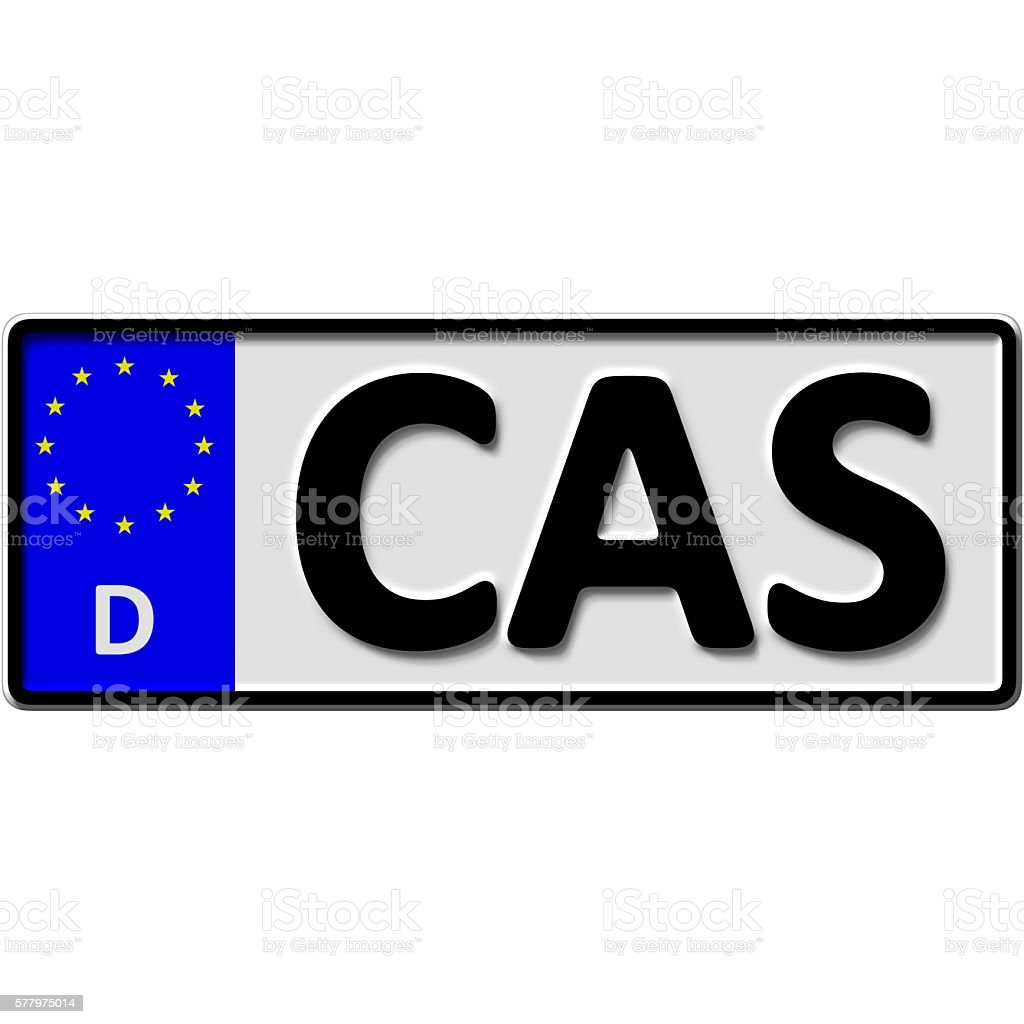 Castrop-Rauxel license plate number stock photo