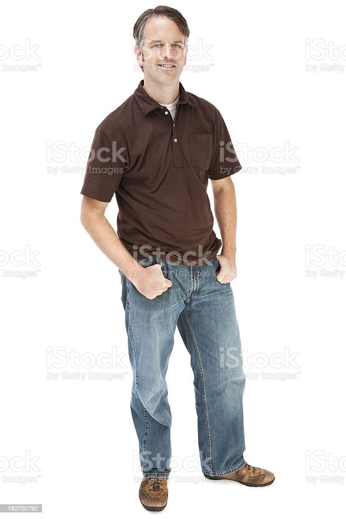 Casual Adult Male royalty-free stock photo