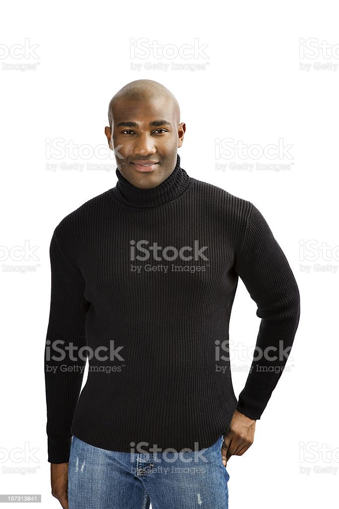 Casual African American Man stock photo
