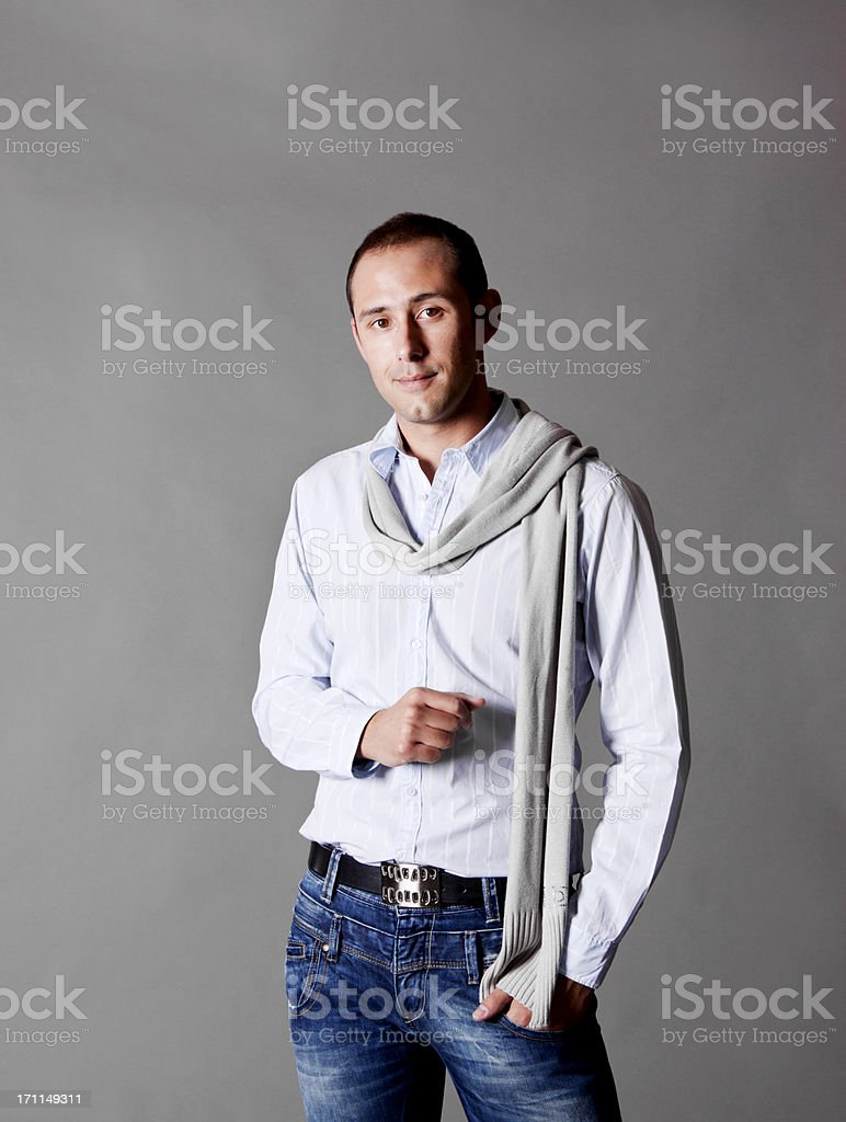 Casual and Attractive Greek Man royalty-free stock photo
