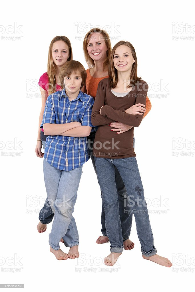 Casual and Barefoot stock photo