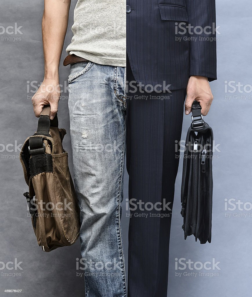 Casual and formal look stock photo