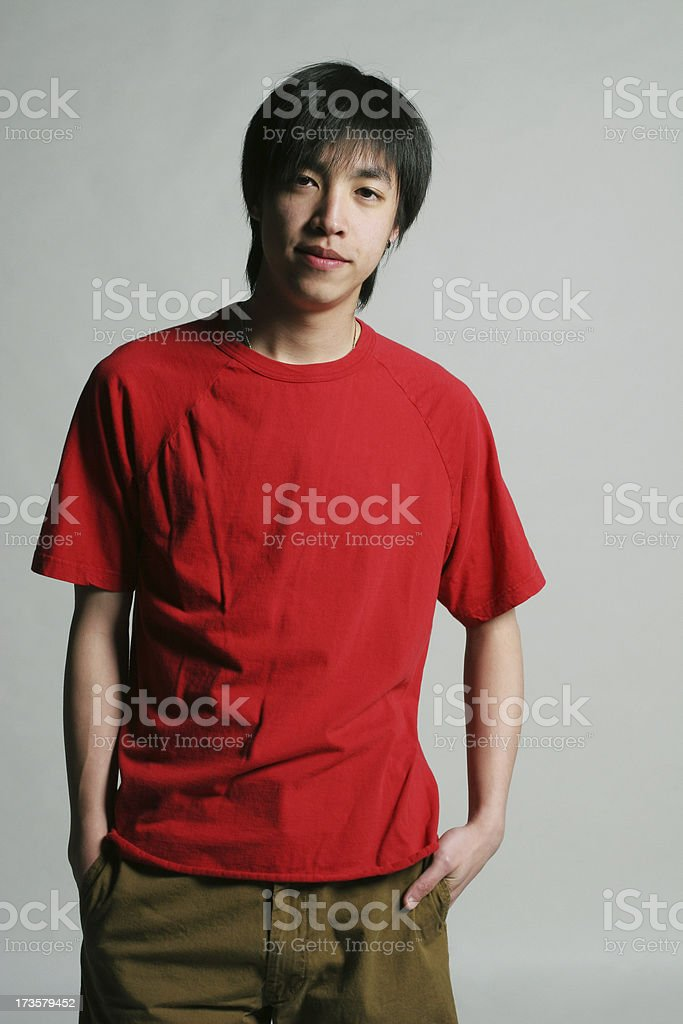 Casual asian male standing royalty-free stock photo