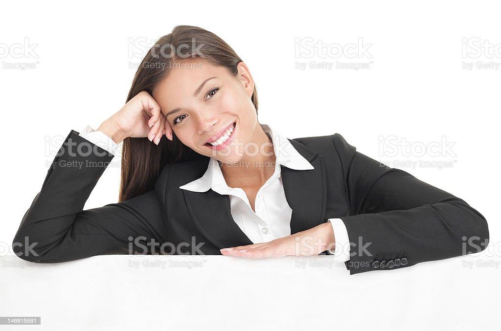 Casual billboard businesswoman royalty-free stock photo