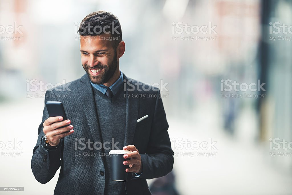 Casual break from work stock photo