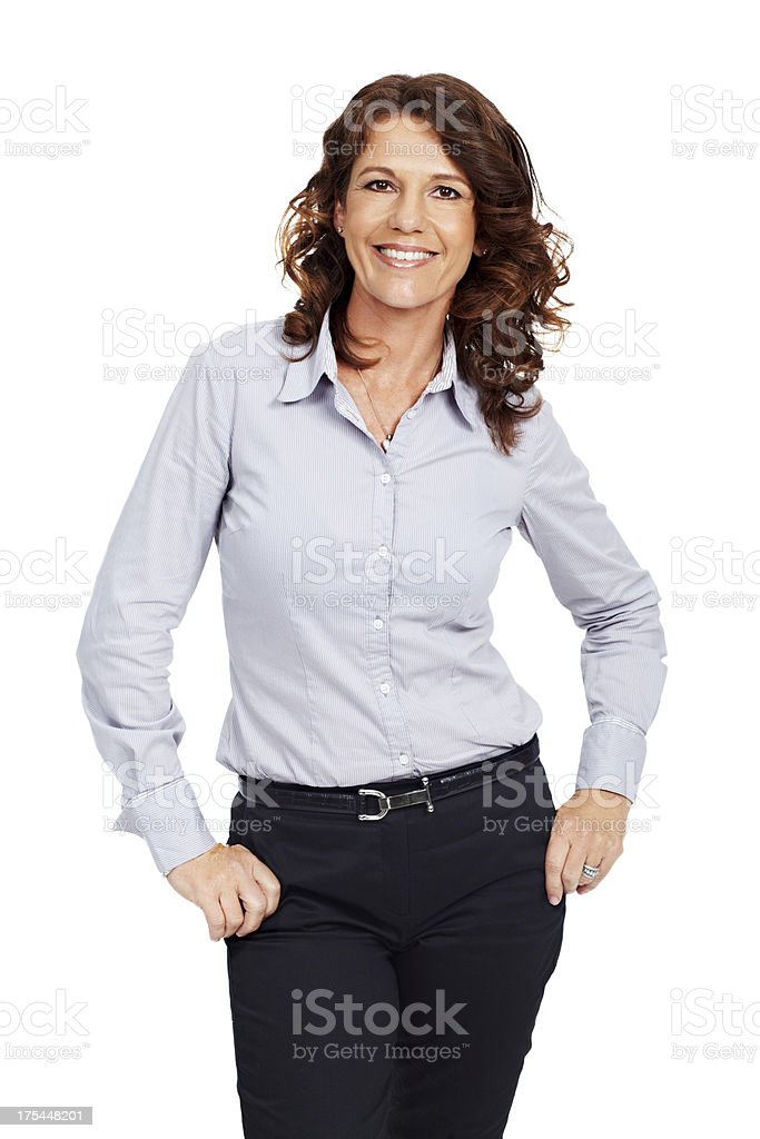 Casual business charm stock photo
