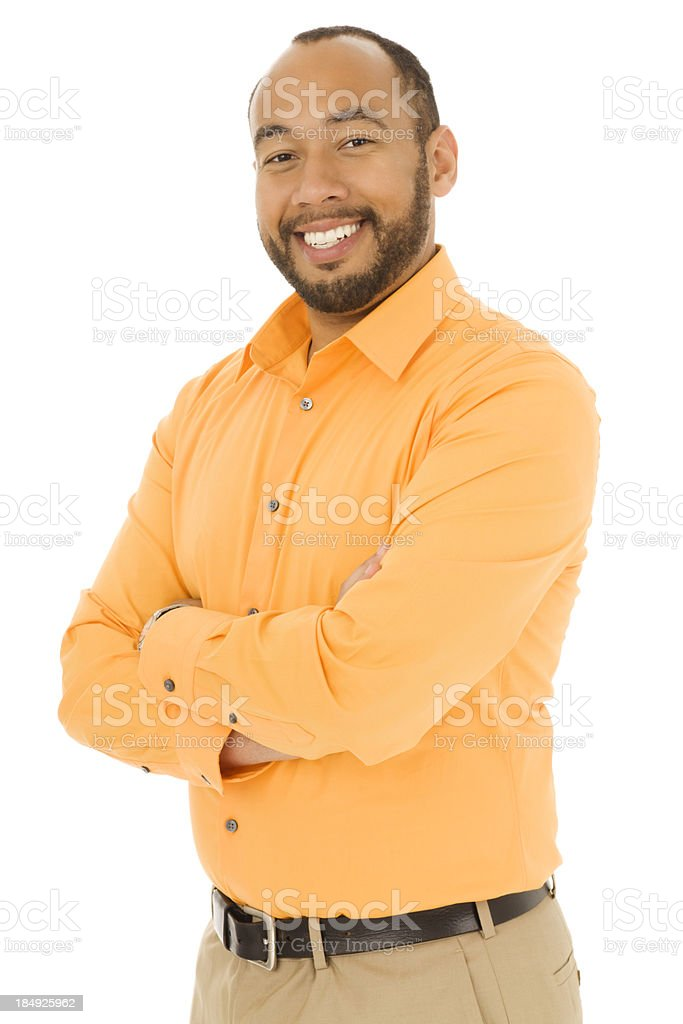 Casual Business Man with Arms Crossed royalty-free stock photo