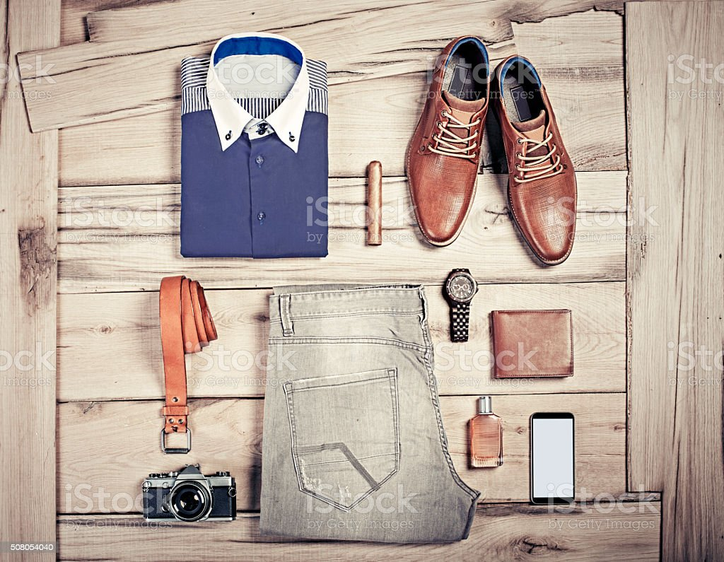 Casual business outfit stock photo