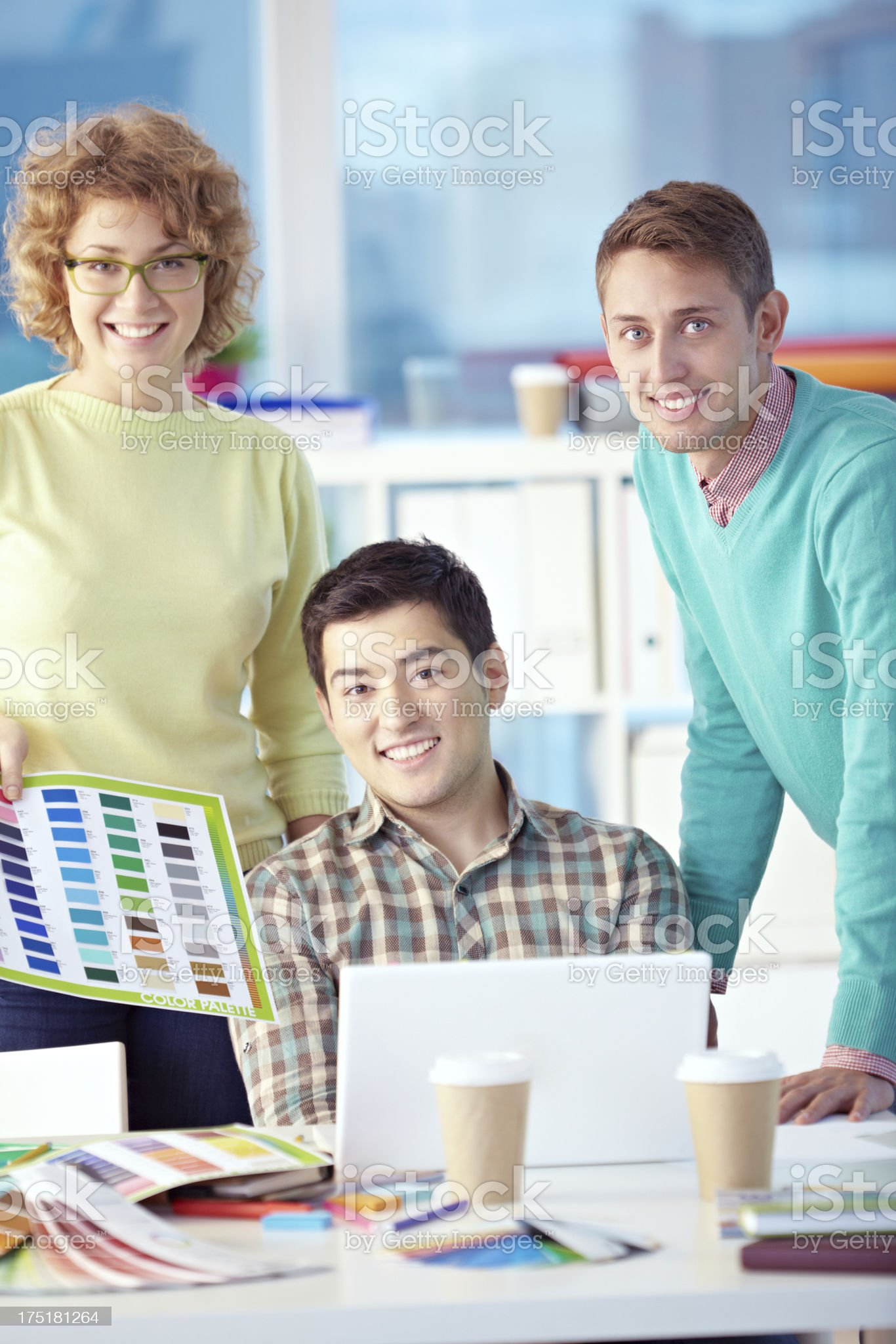 Casual business people royalty-free stock photo