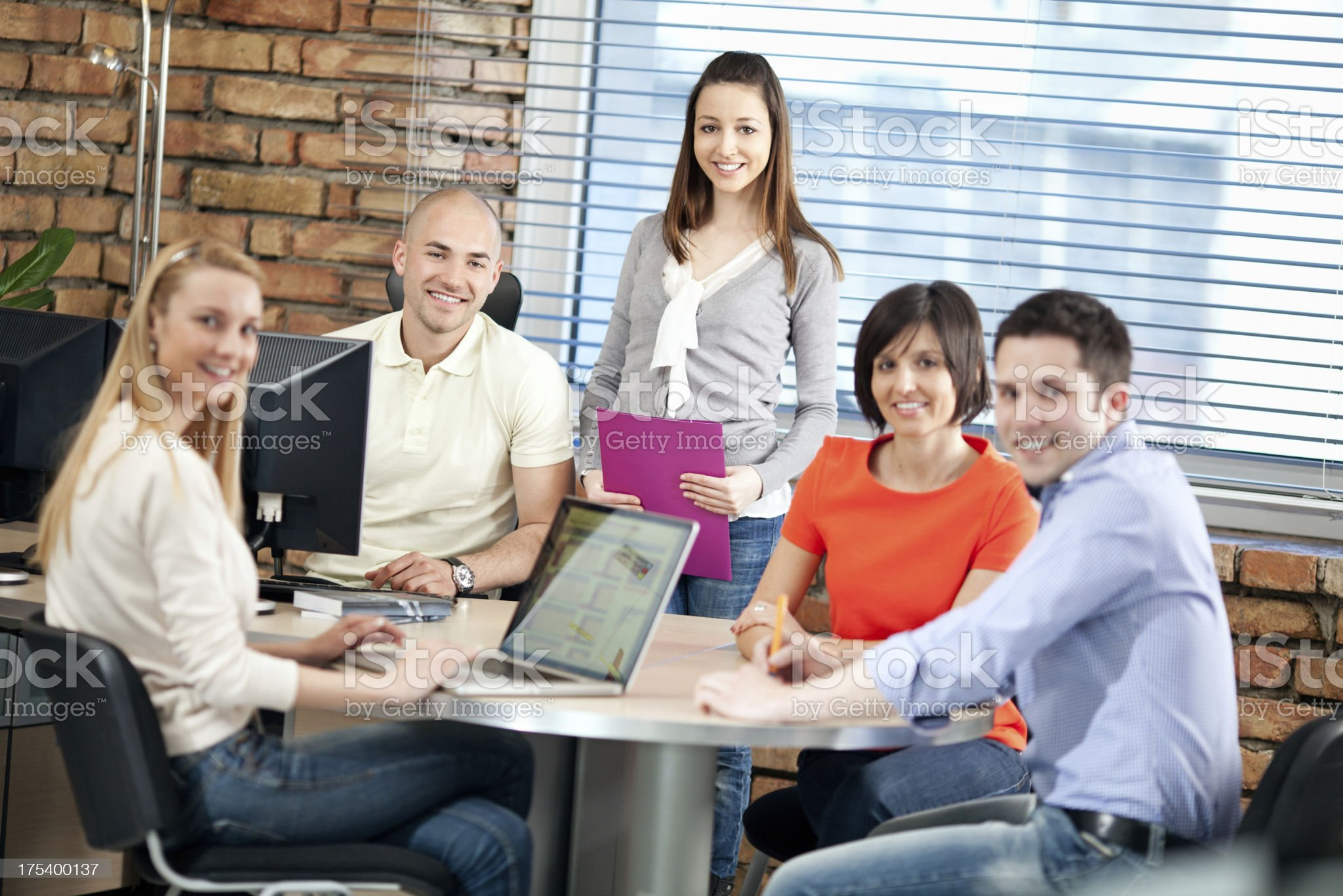 Casual Business People Working In Office royalty-free stock photo