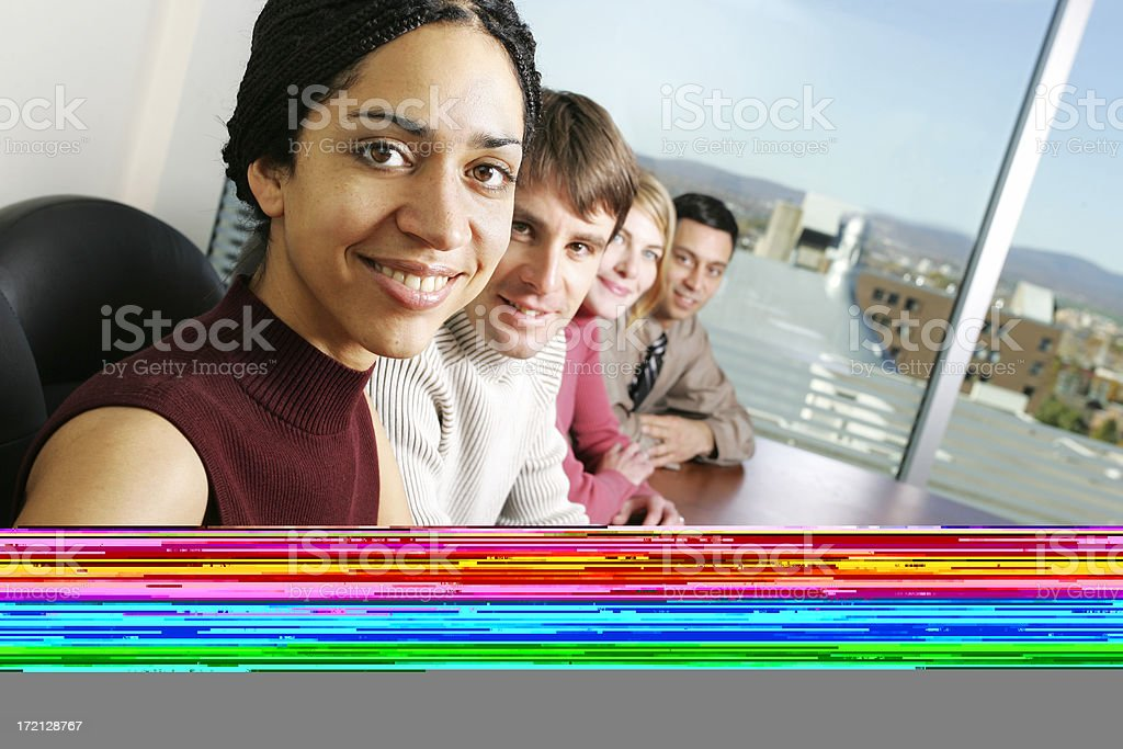 Casual Business : Teamwork Portrait IV royalty-free stock photo