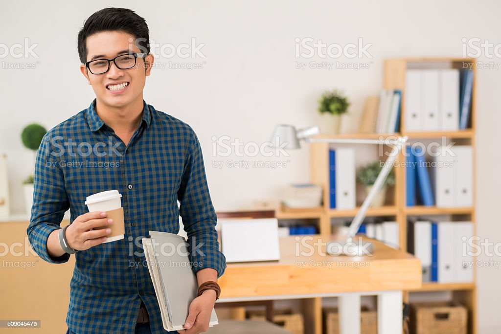 Casual businessman stock photo
