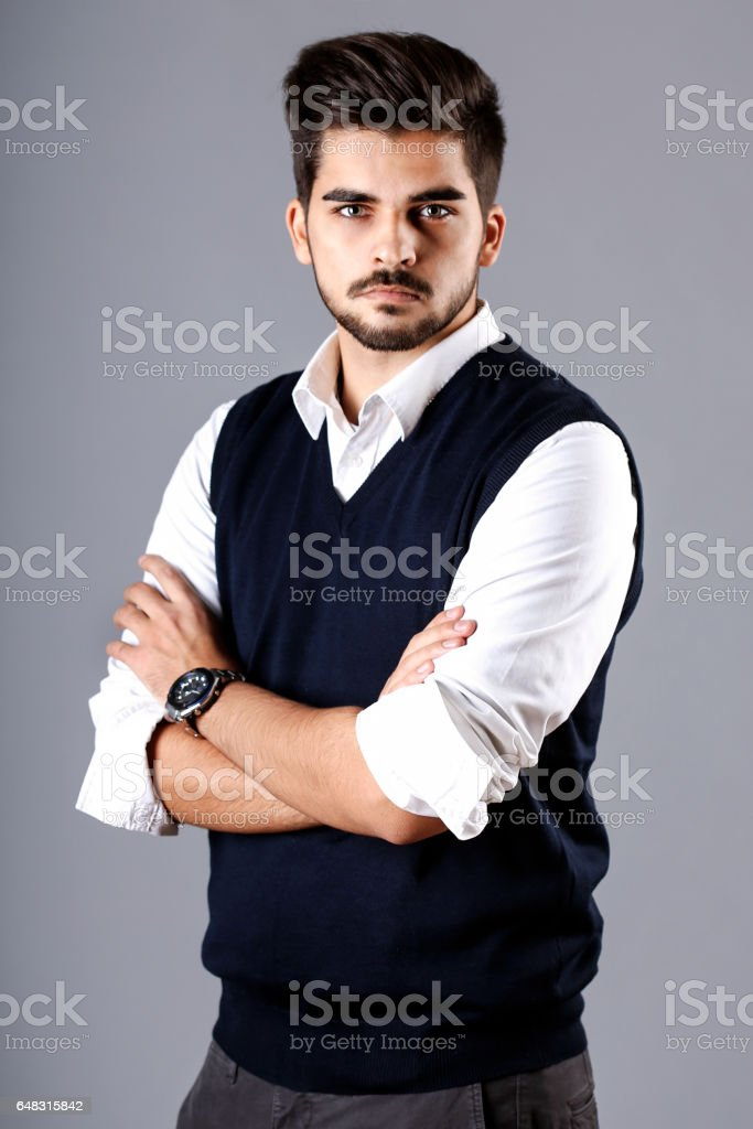 Casual businessman stock photo