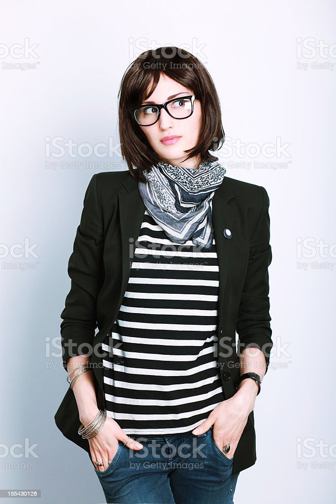 Casual Clothing Portrait royalty-free stock photo