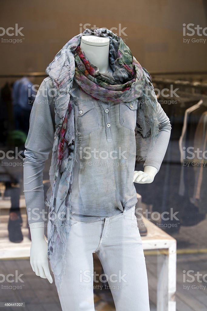 Casual Clothing Store royalty-free stock photo