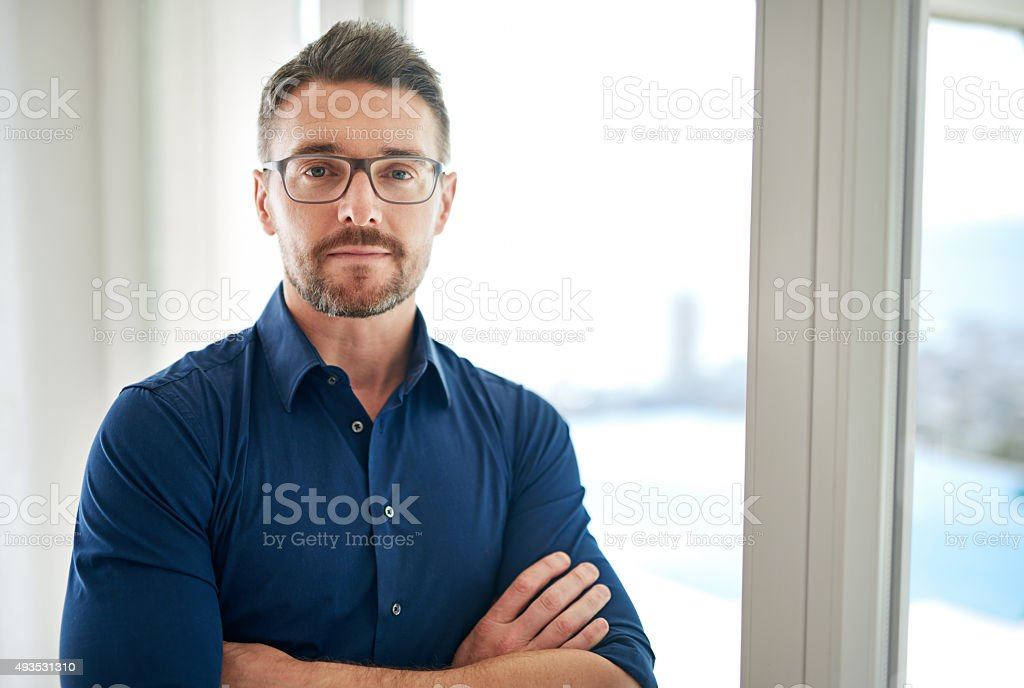 Casual confidence stock photo