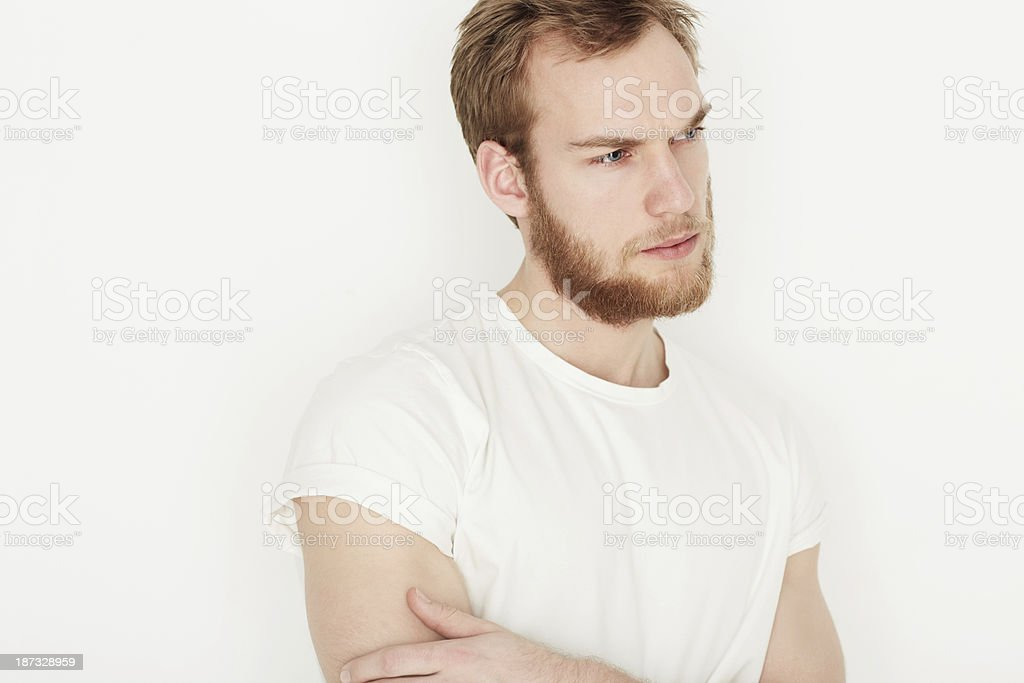 Casual contemplation stock photo
