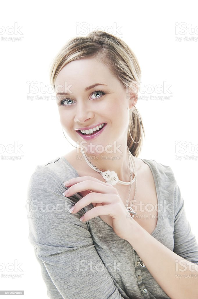 Casual cute woman royalty-free stock photo