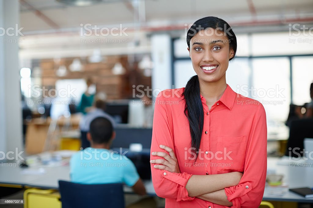 Casual day at the office stock photo