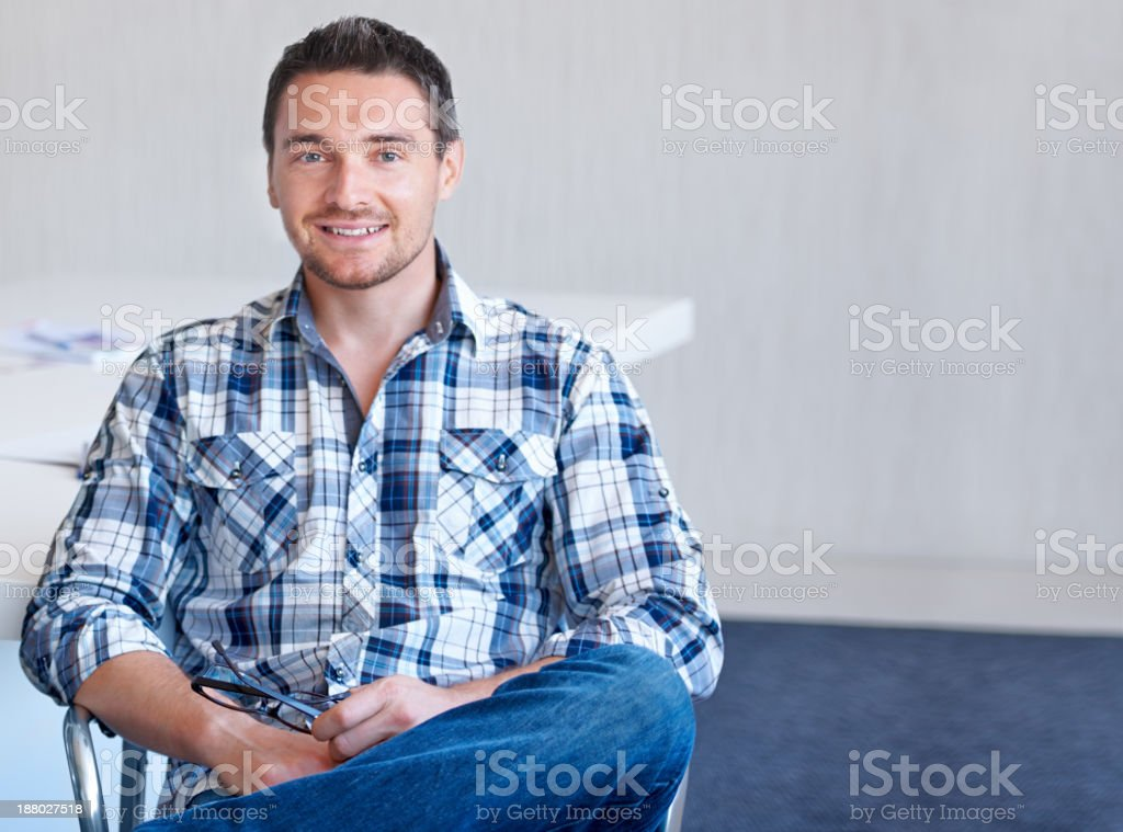 Casual day at work stock photo