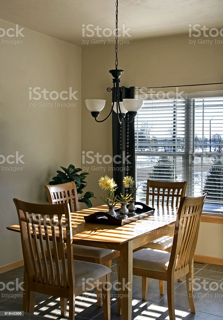 Casual dining room royalty-free stock photo