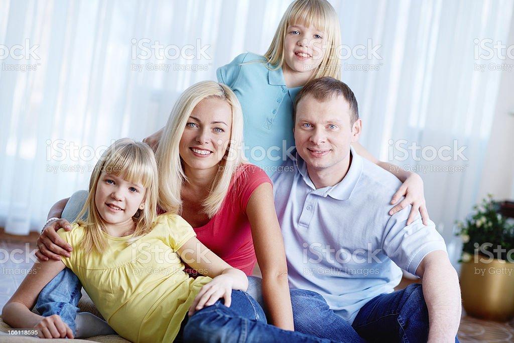 Casual family royalty-free stock photo