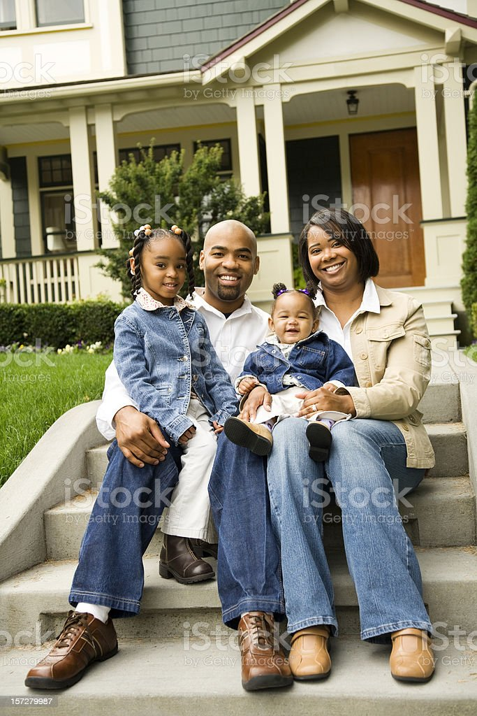 Casual Family Portrait royalty-free stock photo