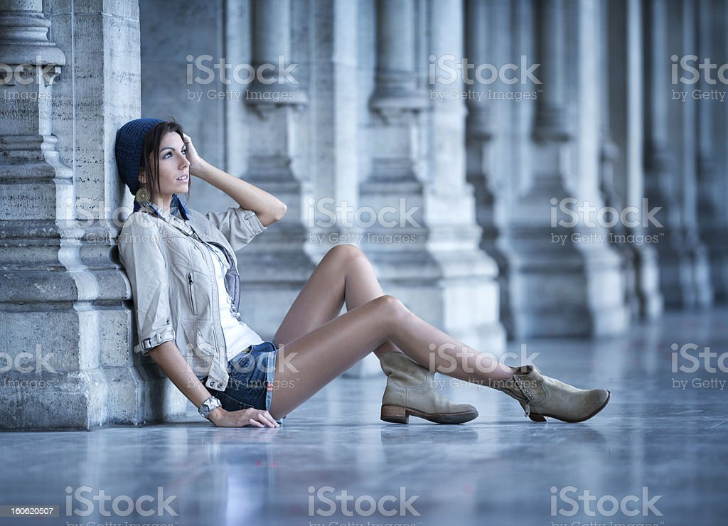 Casual Fashion, Moonlight royalty-free stock photo