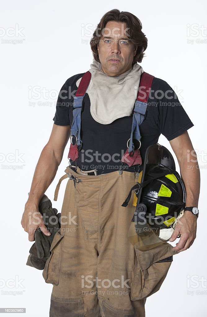 casual fireman portrait royalty-free stock photo