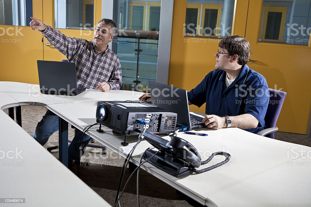 Casual Friday Business Meeting Presentation stock photo