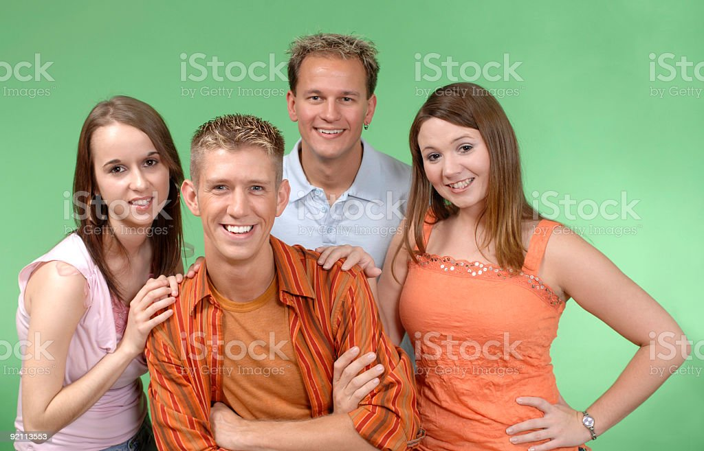 casual friends royalty-free stock photo