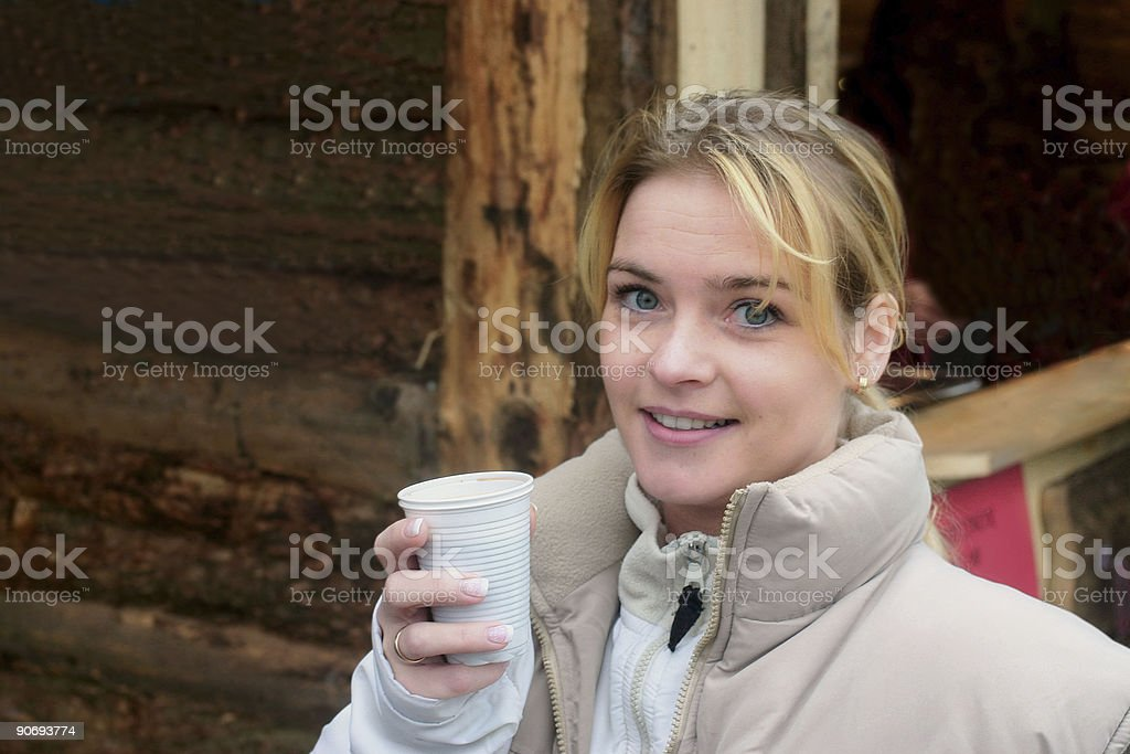 Casual girl stock photo