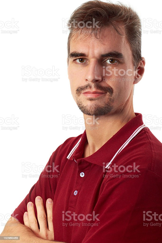 Casual Guy - Arms Crossed stock photo