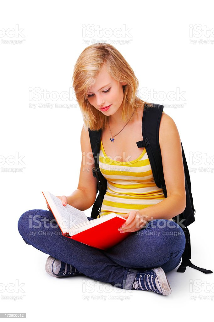 Casual high school student stock photo