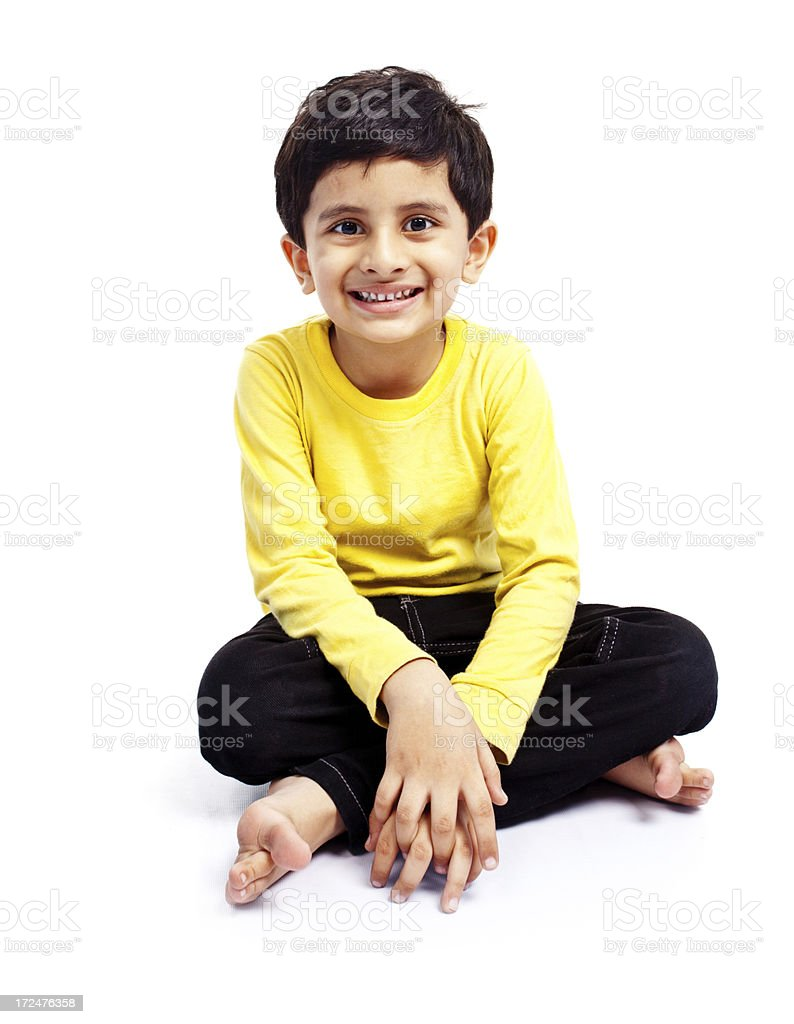 Casual Indian Boy Child Isolated on White royalty-free stock photo