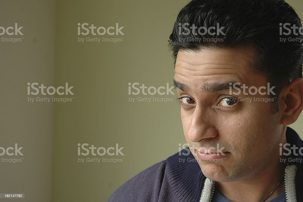 casual indian man royalty-free stock photo