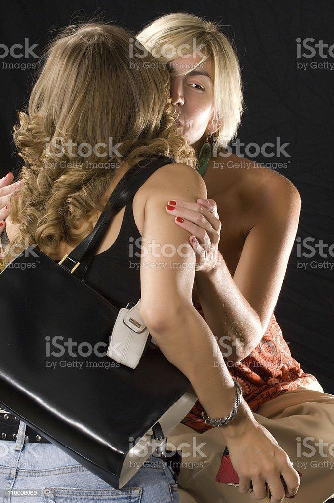 Casual kiss royalty-free stock photo