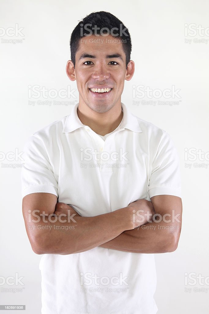 Casual male folding arms royalty-free stock photo