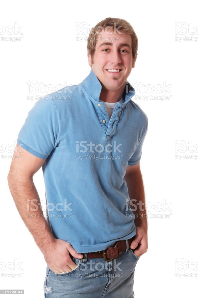 Casual Male in Blue royalty-free stock photo