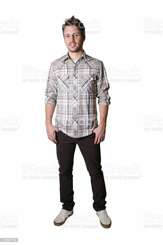 Casual male isolated royalty-free stock photo