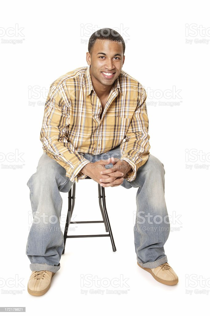 Casual Male Sitting royalty-free stock photo