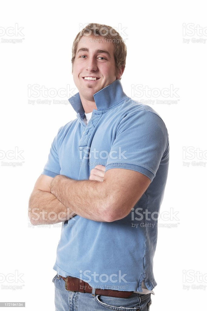 Casual Male with Collar Raised royalty-free stock photo