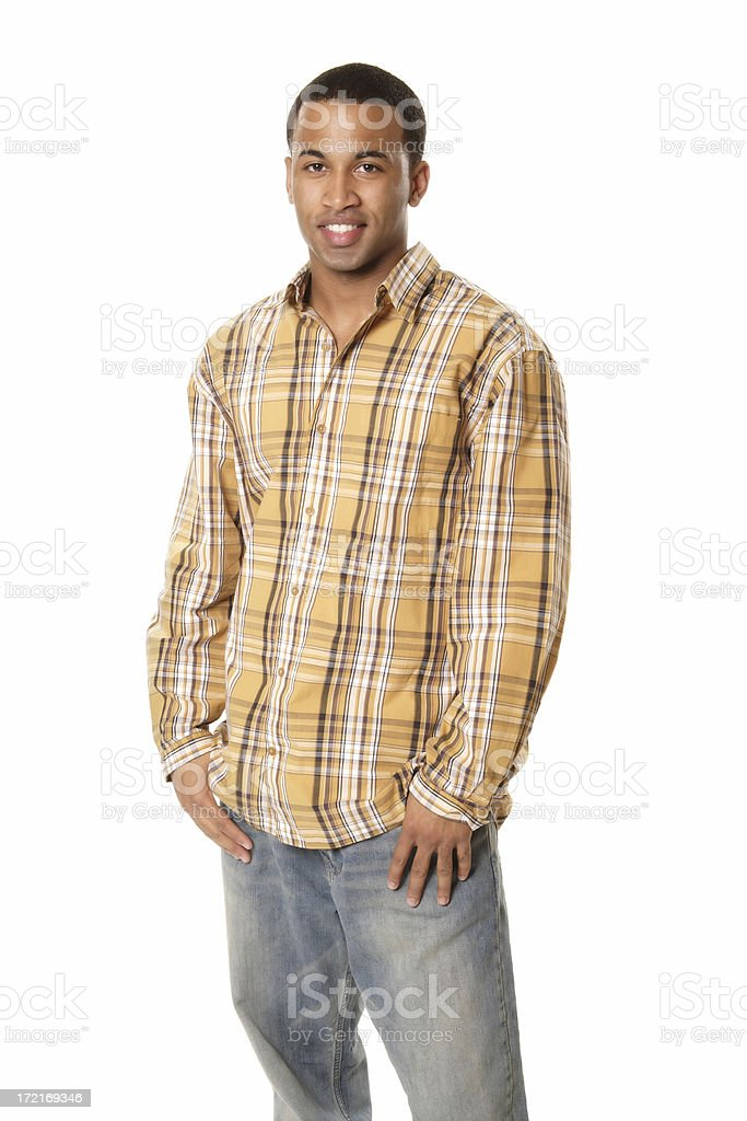 Casual Man in Plaid royalty-free stock photo