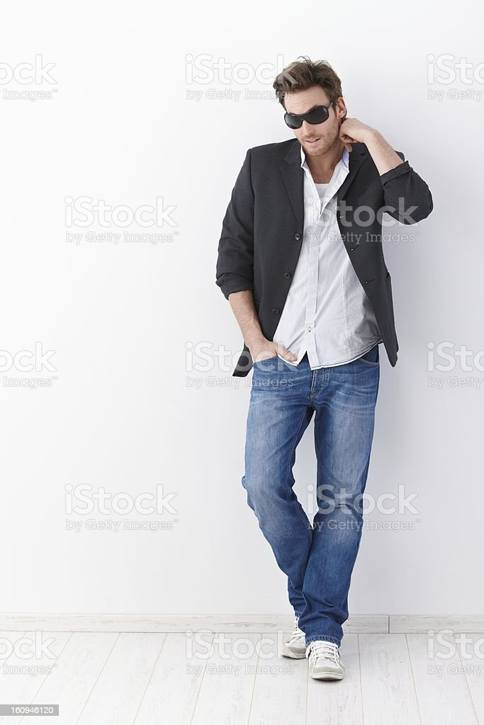 Casual man in sunglasses royalty-free stock photo