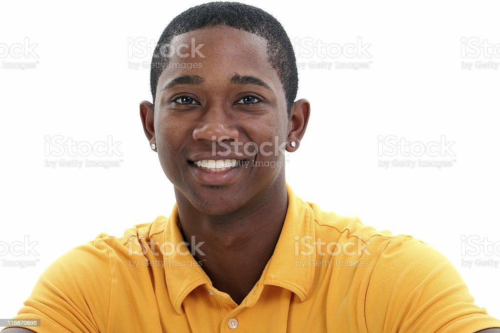 Casual Man in Yellow royalty-free stock photo